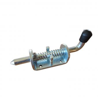 Federriegel Ø 12 mm / Schraubplatte / verzinkt
