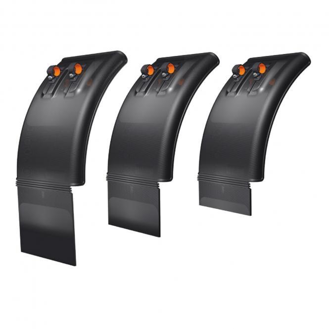 Viertel Kotflügel mit Halter & Spritzschutz integriert