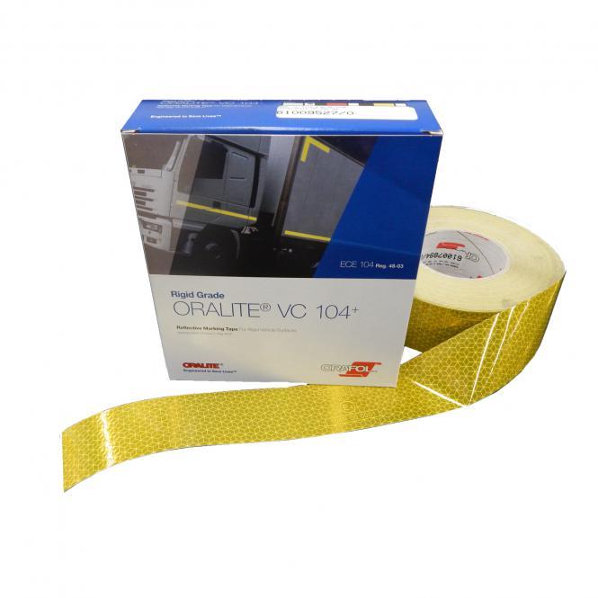 Orafol Konturmarkierung gelb / Kofferaufbauten